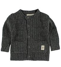 Small Rags Cardigan - Knitted - Dark Grey