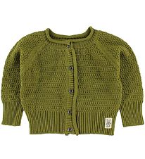 Small Rags Cardigan - Knitted - Khaki Green
