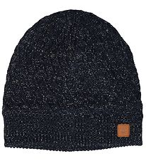 Hummel Hat - Knitted - Sansa - Wool/Polyester - Navy w. Silver