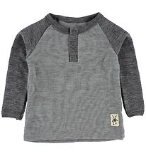 Small Rags Blouse - Wool - Grey/Grey Melange