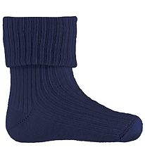 Melton Baby Socks - Wool - Navy