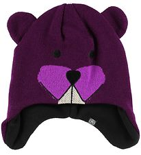 Color Kids Hat - Knitted - Reaver - Plum Beaver