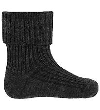 Melton Baby Socks - Wool - Charcoal