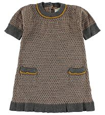 En Fant Dress - Knitted - Light Brown/Grey Pattern