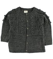 En Fant Cardigan - Knitted - Dark Grey Melange