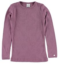 Smallstuff Blouse - Dusty Purple w. Pointelle