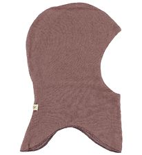 MarMar Balaclava - Wool/Cotton - Double Layer - Dark Rose