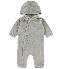 Wheat Hooded Jumpsuit - Velvet - Grey