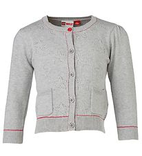 Lego Duplo Cardigan - Knitted - Grey w. Pointelle