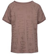Sport by Sofie Schnoor T-shirt - Light Brown w. Glitter Text