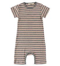 MarMar Summer Romper - Rib - Pink/Grey Striped
