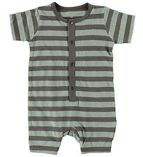 En Fant Summer Romper - Mint/Grey Striped