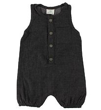 En Fant Summer Romper - Charcoal w. Pocket