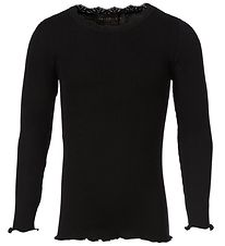 Rosemunde Blouse - Black w. Lace