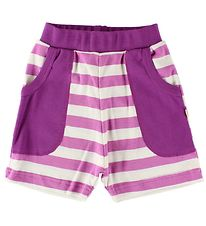 Katvig Sweat Shorts - Fuchsia/White Striped