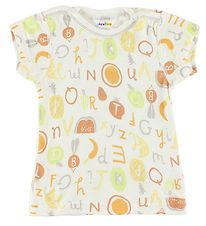 Joha T-shirt - Bamboo - White w. Fruits/Letters