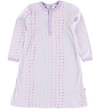 Joha Nightdress - Cotton - Light Lavender w. Dots