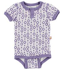 Katvig Classic Bodysuit - S/S - White w. Purple Apples