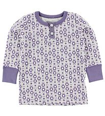 Katvig Classic Blouse - White w. Purple Apples