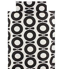 Katvig Classic Duvet Cover - Adult - 140x220 - White/Black Apple