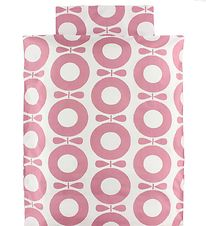 Katvig Classic Duvet Cover - Baby - White w. Rose Apples