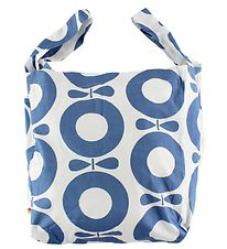 Katvig Beach Bag - White w. Blue Apples