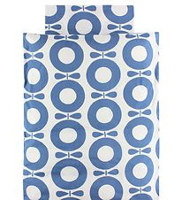 Katvig Classic Duvet Cover - Junior - White/Dusty Blue Apples