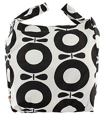 Katvig Beach Bag - White. w. Black Apples
