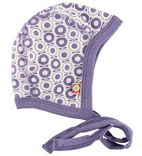Katvig Classic Baby Hat - White w. Purple Apples