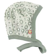 Katvig Classic Baby Hat - White w. Dusty Green Apples