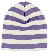 Katvig Beanie - White/Purple Striped