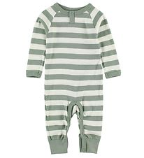 Katvig Jumpsuit - White/Dusty Green Striped