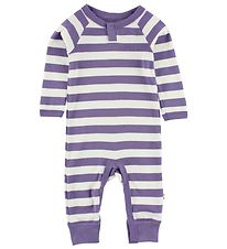 Katvig Jumpsuit - White/Purple Striped