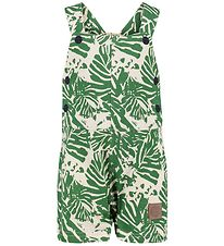 Hummel Overalls - Wildfred - Ivory/Green w. Leaf Print