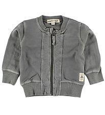 Small Rags Zip Cardigan - Grey