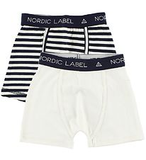 Nordic Label Boxers - 2-Pack - Off-White/Striped