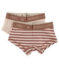 Nordic Label Hipsters - 2-Pack - Light Rose/Rose Striped