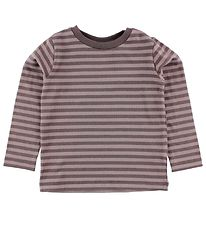 Nordic Label Blouse - Purple Striped