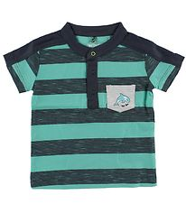 Me Too T-shirt - Charcoal/Turquoise Striped
