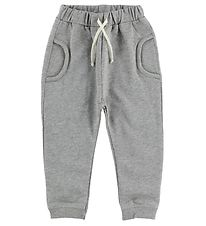 Minipop Trousers - Grey Melange