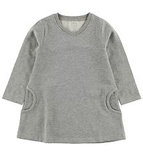 Minipop Sweat Dress - Grey Melange