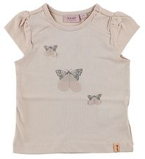 Noa Noa Miniature T-shirt - Rose Powder w. Butterflies