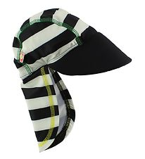 Katvig Classic Swim Hat - UV60 - Black/White Striped