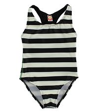 Katvig Classic Swimsuit - UV60 - Black/White Striped