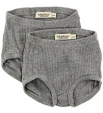 MarMar Underpants - 2-Pack - Grey Melange