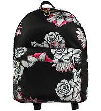 Young Versace Backpack - Black w. Flowers