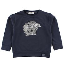 Young Versace Sweatshirt - Dusty Blue w. Silver Logo