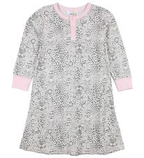 Joha Night Gown - White/Pink w. Leopard