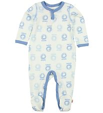 Katvig Jumpsuit - Ivory/Blue w. Apples
