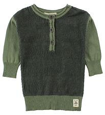 Small Rags Dress - Knitted - Dark Green/Dusty Green